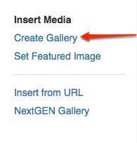 Create a WordPress Gallery