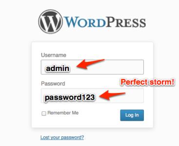 Bad Password Example