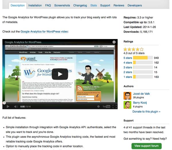 Wordpress plugin overview