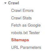 Webmaster Tools Submit Sitemap