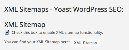 XML Sitemap in Yoast WordPress SEO plugin