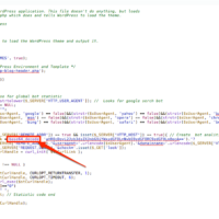 Removing Malware from WordPress and Preventing WordPress Hacks - sample of a hacked index.php file